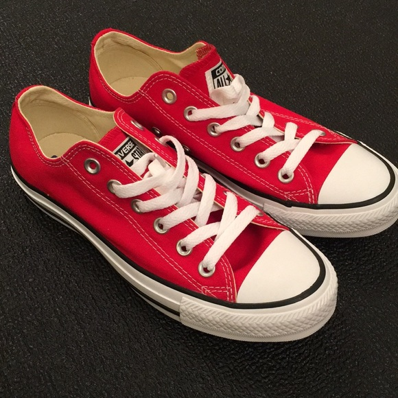 half off sale sold worldwide NEW Red Converse All Star Chucks NWT